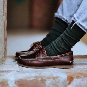 Timberland同款黑色!6折经典2孔船鞋