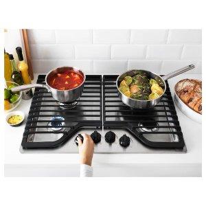 IkeaFRAMTID 4 burner gas cooktop, Stainless steel - IKEA