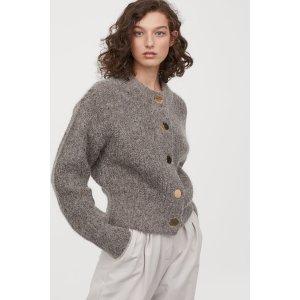 H&MChunky-knit Wool Cardigan