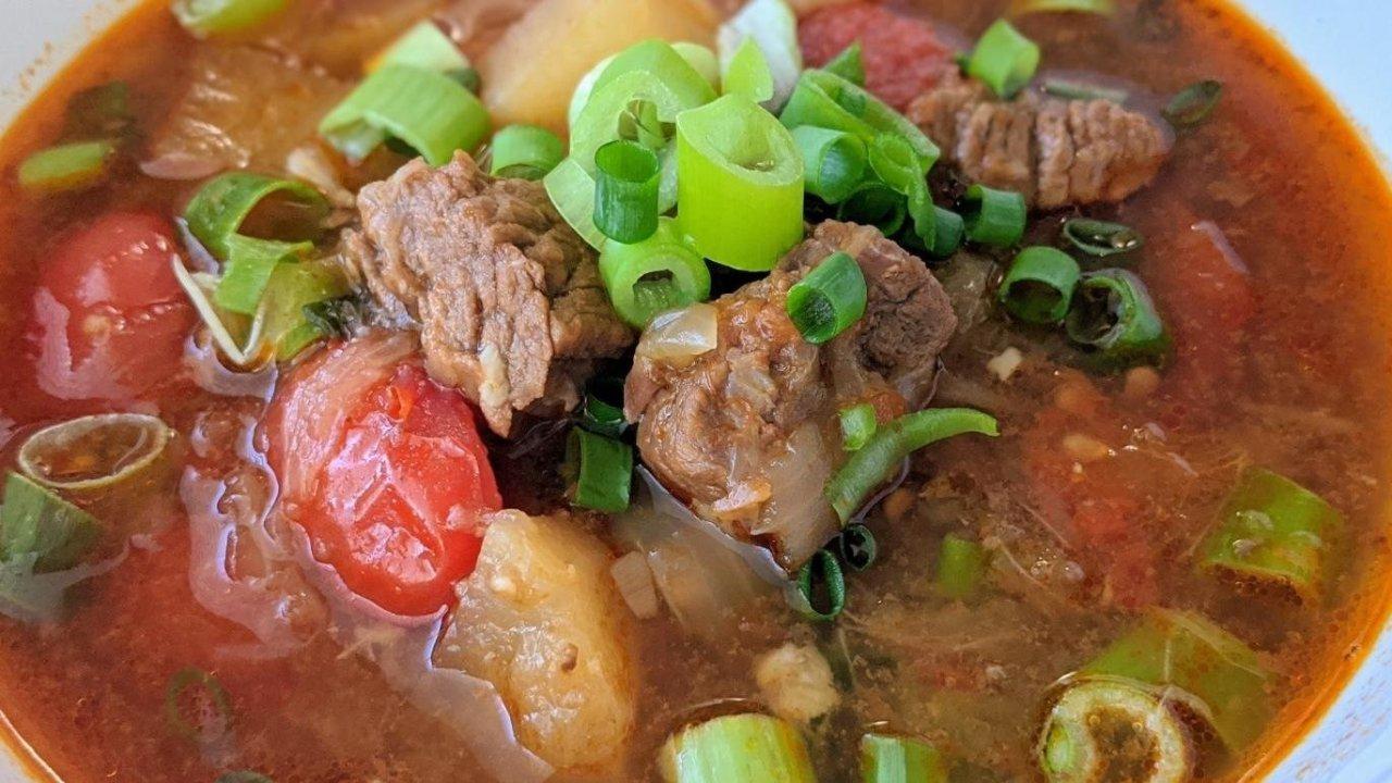 Instant Pot一锅到底+快手食谱|三种番茄风味融合的浓郁炖番茄牛肉锅(牛肉汤面/牛肉拌饭都适合)