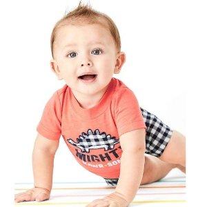 包邮+包臀衫5件仅$$4.79 等于0.96/件即将截止:Carter's童装官网 清仓区额外6折热卖 最低$2.39起