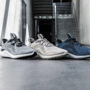 第1双$49.99(原价$110),第2双$25白菜价:adidas 人气专业跑鞋Alphabounce系列折上折,全场包邮