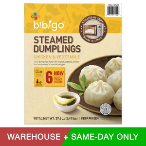 $7.99 Bibigo Steamed Dumplings Chicken & Vegetable, 39.6 oz