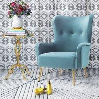 TOV Furniture 蓝色丝绒椅
