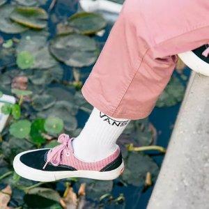 玫瑰粉帆布鞋