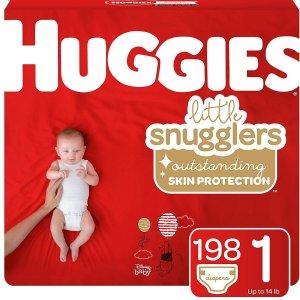 $13.58(原价$24.56)史低价:Huggies 好奇宝宝尿不湿 新生儿尺寸 仅$0.16/片