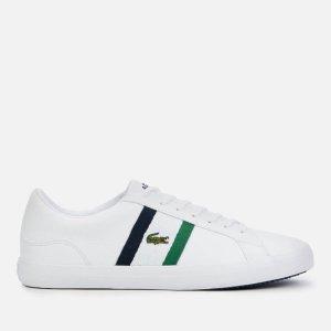 Lacoste男士logo小白鞋