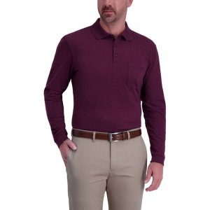 HaggarSolid Heather Polo