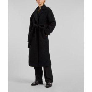 GanniBoucle Wool-Blend Long Coat