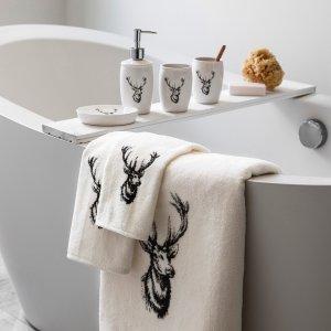 低至5折,$2起+限时免邮Simons 官网 INS风浴室用品,毛巾,浴帘,收纳特卖
