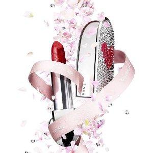 $41起 送礼首选上新:Guerlain 限量彩妆 心形碎钻口红壳、印花唇膏