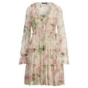 Ralph LaurenFloral Silk Dress