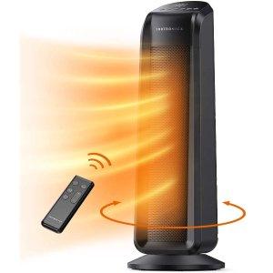 TaoTronics 1500瓦可摇头取暖器 带遥控器