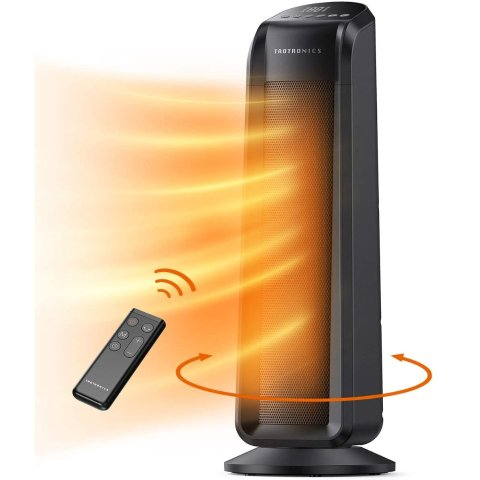 TaoTronics Space Heater, 1500W Fast Quiet Heating Ceramic Tower Electric Heater