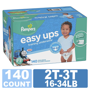 Extra 50% Off + 5% Off + $20 Gift Card with 2 Eligible Pampers Diapers PurchasePampers Easy Ups Training Pants Pull On Disposable Diapers for Boys, 3T-4T, 124 Count
