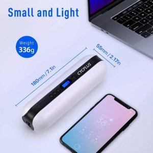 折后€42.49 可作备用电源Cycplus 无线电动充气宝热促 气压数显  一机多用