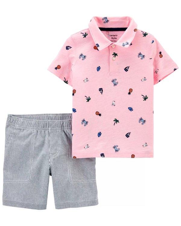 男婴polo+短裤两件套