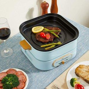 只要£79.99Yeeyo 高颜值多功能锅 火锅烧烤炖煮一体 电磁炉加热