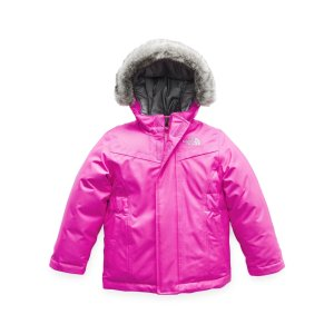 The North FaceGreenland Down Hooded Jacket w/ Faux-Fur Trim, Size 2-4T
