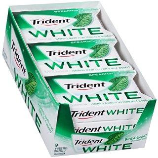 $6.18 保持口气清新Trident 无糖口香糖 薄荷味 9包 共144粒