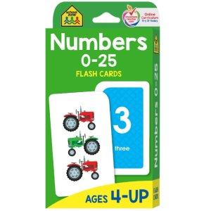 $3.78School Zone 幼儿数字认知卡 宝宝的数学启蒙好帮手