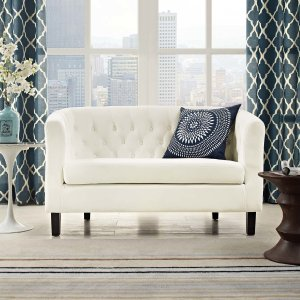 HouzzProspect Velvet Loveseat - Transitional - Loveseats - by Modway
