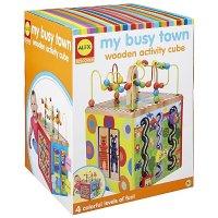 Alex Toys 益智方形木质玩具--发现我的繁忙城镇,1岁+