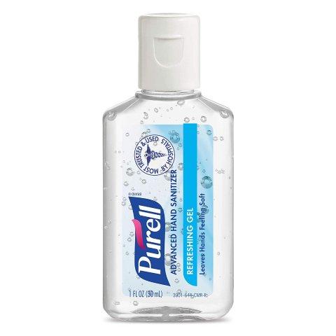 PURELL Advanced Hand Sanitizer Refreshing Gel, Clean Scent, 1 fl oz Portable flip-Cap Bottle (Pack of 72)