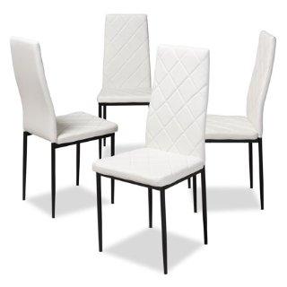 $86.39Baxton Studio 白色人造皮革餐椅4件套