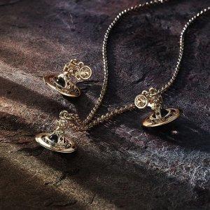 最高减200 变相6.7折Vivienne Westwood 西太后新品大促 爆款小土星项链&耳钉&手链