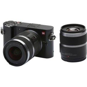 $209(原价$349)YI M1 微单相机+ 12-40mm镜头套装 (冰河银/暴风黑)