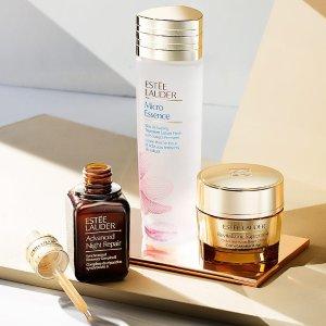 低至7折+送最高6件好礼最后一天:Estee Lauder 全场美妆护肤品热卖 收小棕瓶