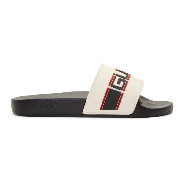 男士Logo潮流拖鞋