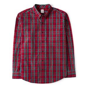 Gymboree男孩红色格纹衬衣