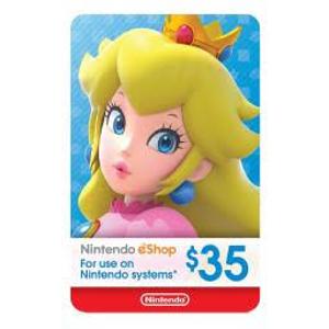 $30.99(原价$35)Nintendo eShop $35 电子礼卡
