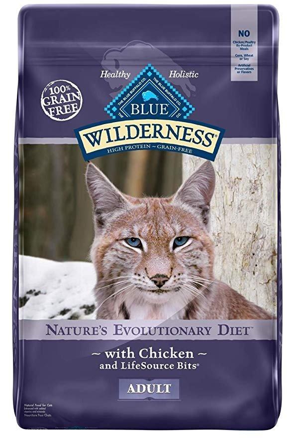 高蛋白质鸡肉味无谷猫粮12磅