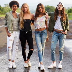 All for $25Women's and Men's Jeans @ Hollister