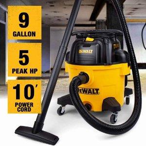 $99(原价$153.89)9加仑史低价:DeWALT 得伟 DXV09P 5马力 三合一 吹扫/干湿吸尘器