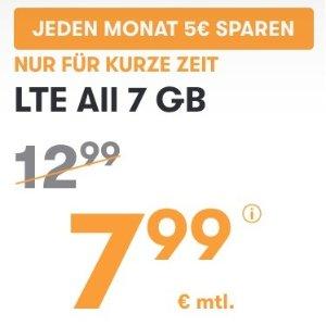 月租€7.99!免€19.99接通费立省€140!本周最划算!包月所有电话/短信+7GB上网+欧盟漫游