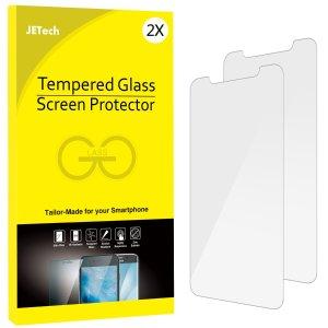 $6.99(原价$10.99)JETech  iPhone X 钢化玻璃保护膜2个装