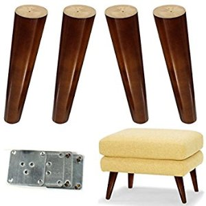 Amazon.com: Wood Sofa Legs 8 inch Pack of 4 Walnut Finished Furniture Feet Replacement Legs Universal for Coffee Table IKEA Buffets Bed Sideboards Cupboard Dresser: Home Improvement