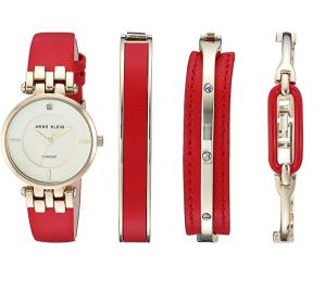 $69.44(原价$201.6)Anne Klein AK-2684RDST 女士手表手镯套装 红金配色