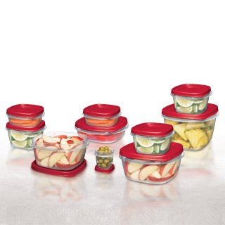 $10Rubbermaid Food Storage Containers with Easy Find Lids, 24-Piece Set @ Walmart