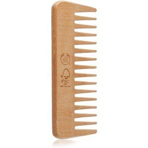 $10.85(原价$12.93)The Body Shop 木制宽齿解结梳 让头发光滑又顺畅