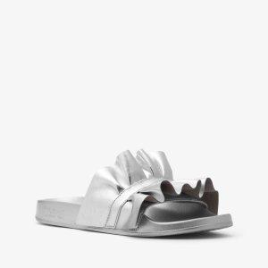 6c220582c131 Michael KorsBella Ruffled Metallic Slide.  35.40  59.00. Michael Kors Bella  Ruffled Metallic Slide · Michael KorsLolita Leather Sandal