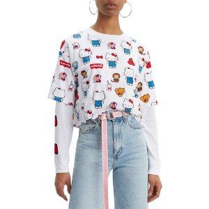 Levi'S® X Hello Kitty Oversized T恤