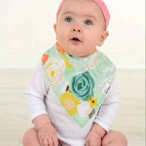 10-Pack Baby Bandana Drool Bibs, 100% Organic Cotton
