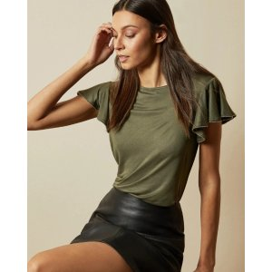Ted BakerAYLEEZ Frill sleeve detail top