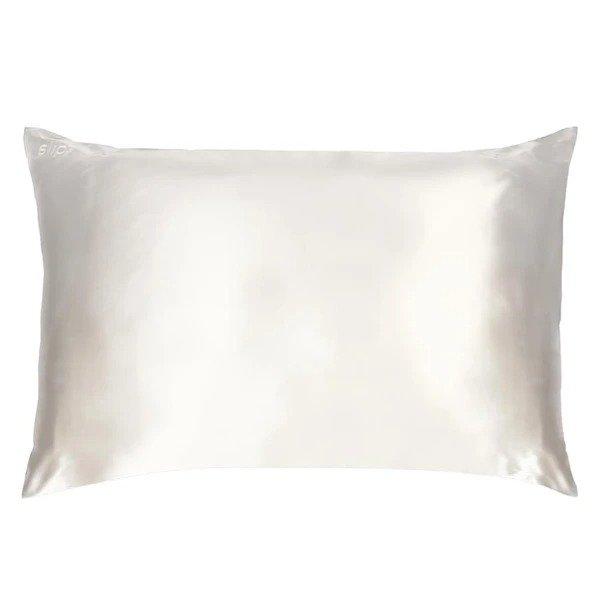 真丝枕套 奶昔白