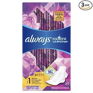 $16.41 女性必备Always Infinity 日常量款卫生巾 新包装上市